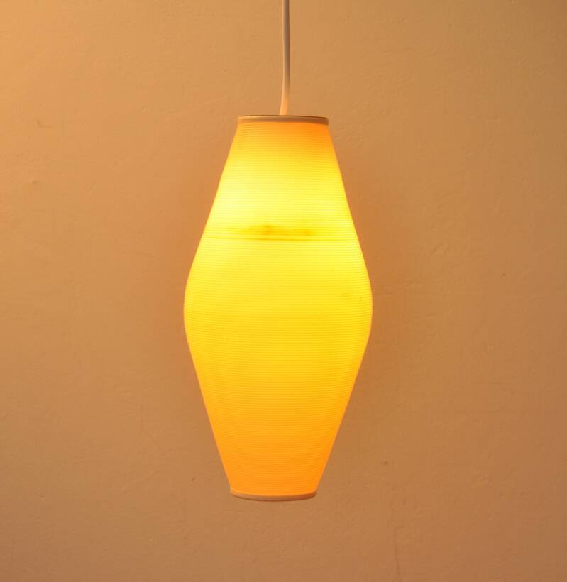 sixties plastic hanging lamp