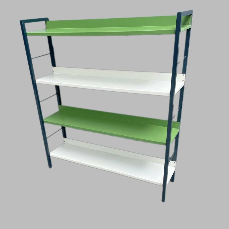 Tomado standing book rack - white and green