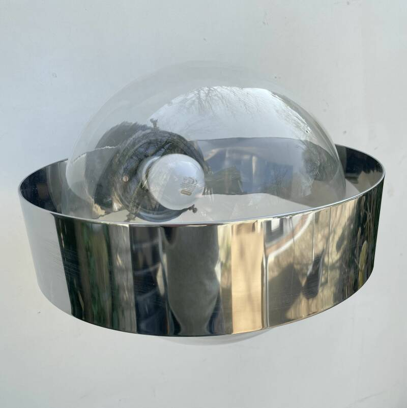 Indoor wall lamp chrome - outdoor or indoor use
