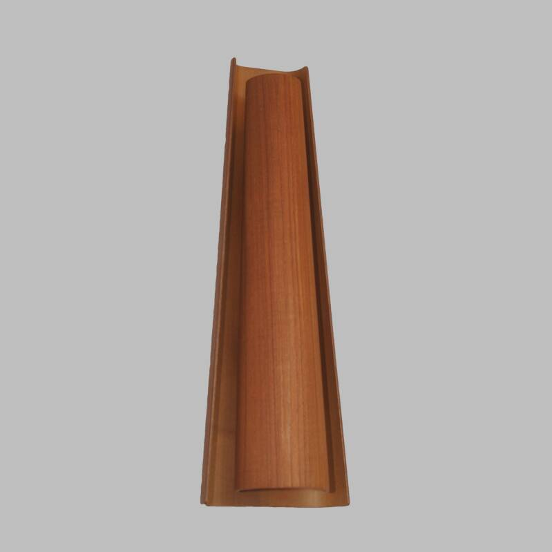 plywood sixties wall lamp
