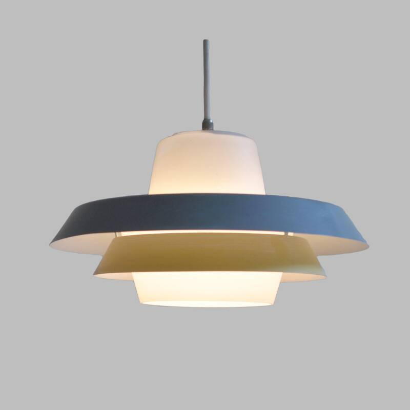 Glass and metal hanging light, model NT30