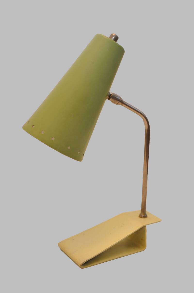 fifties green desk lamp