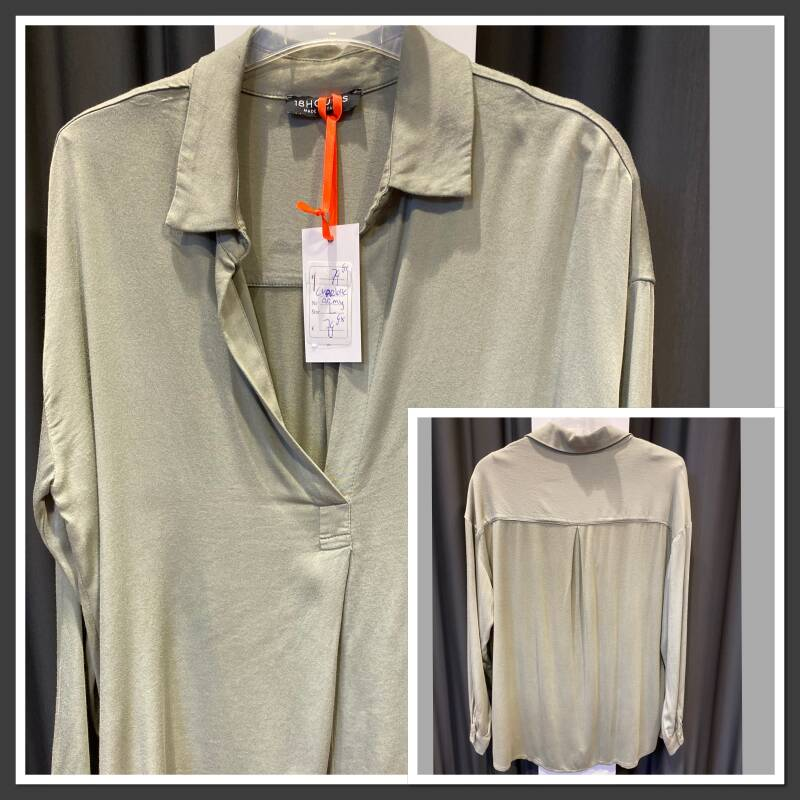18hours Charlotte blouse army