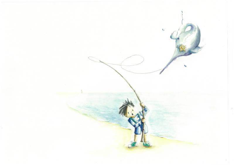 Picture book Peter and the Fish