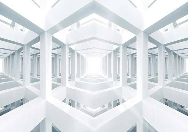 Fotobehang White Space Room 3D