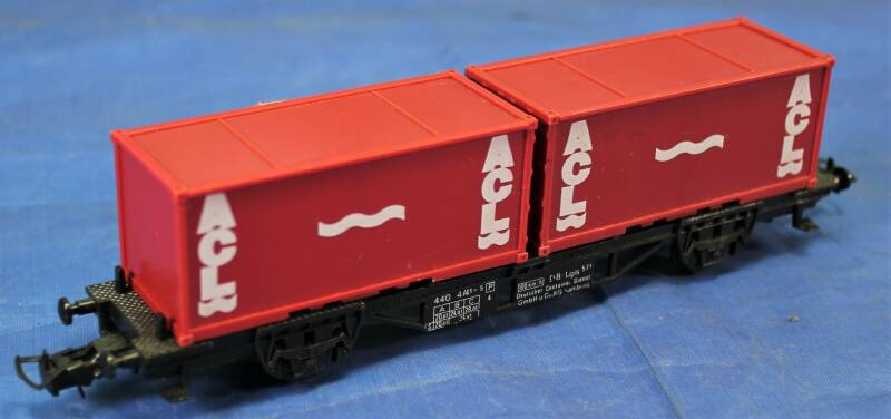 Faller H0 Container wagen met twee ACL containers.