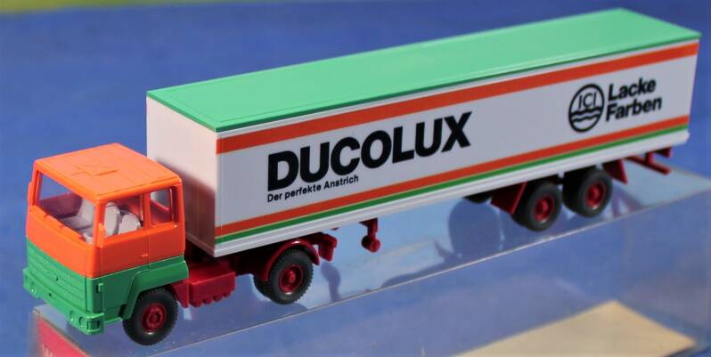 Wiking 1/87 H0  540/27 Ford Transcontinental truck met oplegger 'ICI Ducolux'