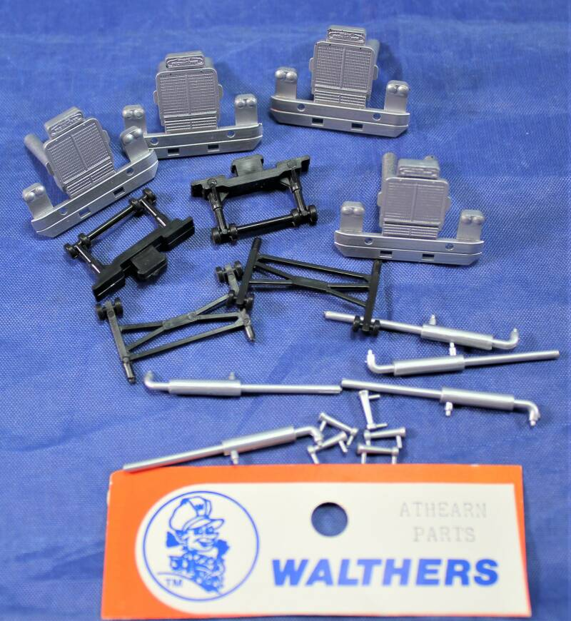 Walthers 1/87 H0 Athearn parts USA trucks (front, uitlaat).