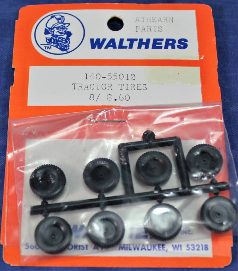 Walthers 1/87 H0 Athearn parts USA trucks (tractor tires).
