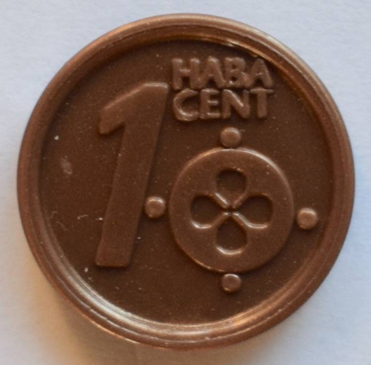 Haba serie 8, 1 euro cent.