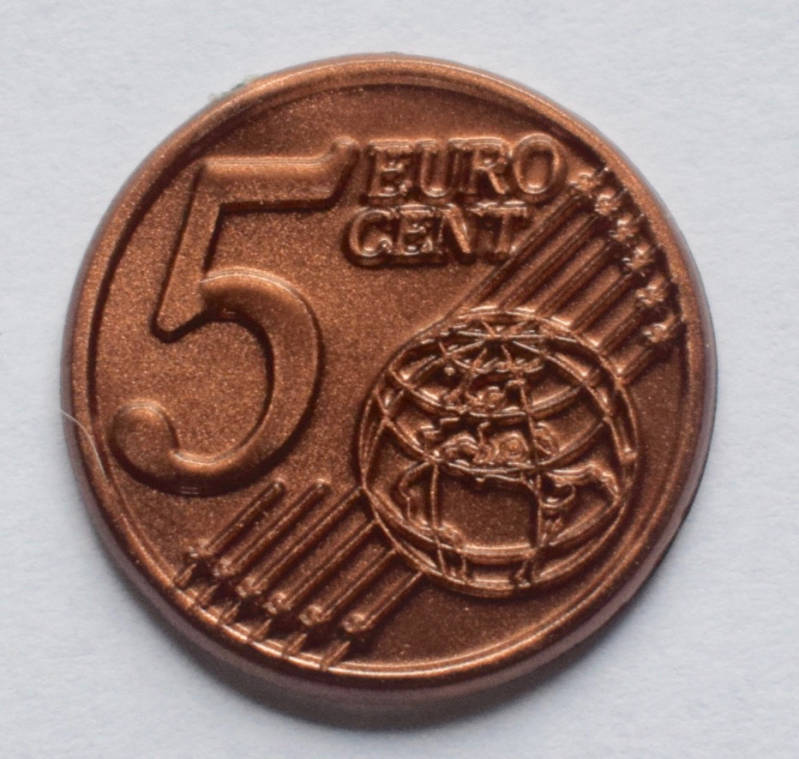 Jegro serie 3, 5 euro cent.