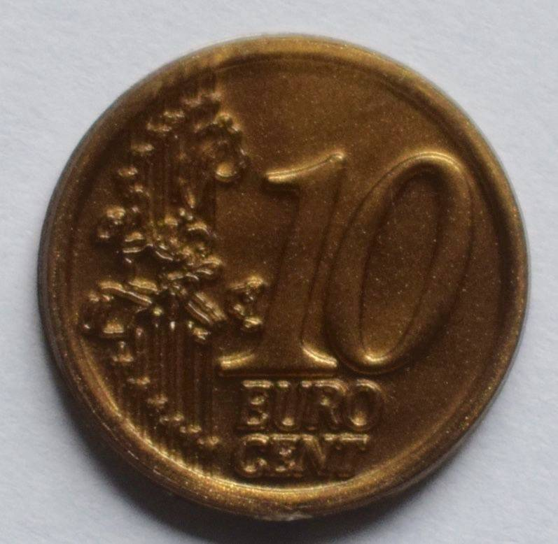 Jegro serie 2, 10 euro cent.