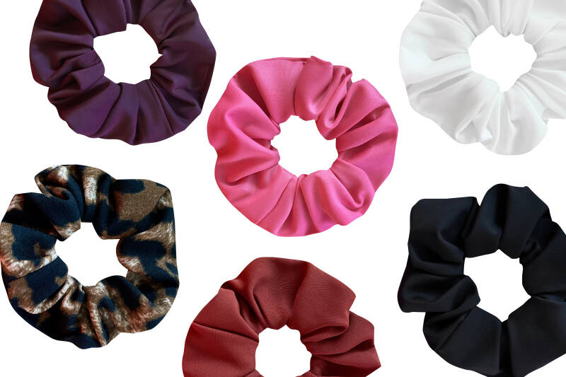 6 PACK Sporty Scrunchies