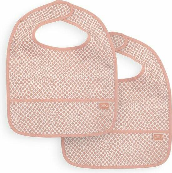 Jollein • Slab waterproof pale pink (2pack)
