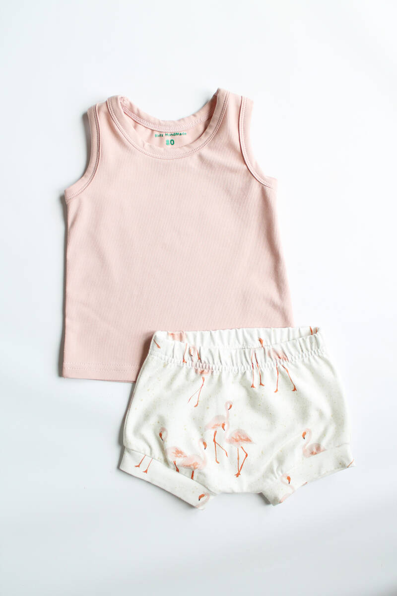 Set flamingo roze