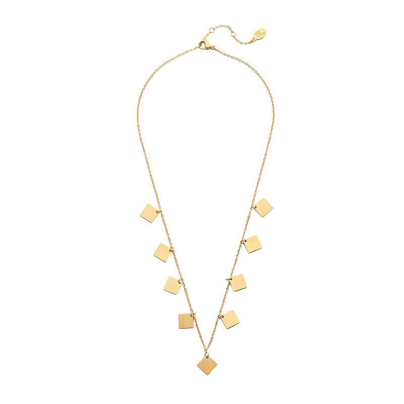 Only Squares Necklace - Gold