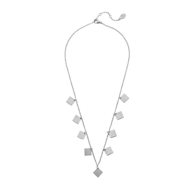 Only Squares Necklace - Silver