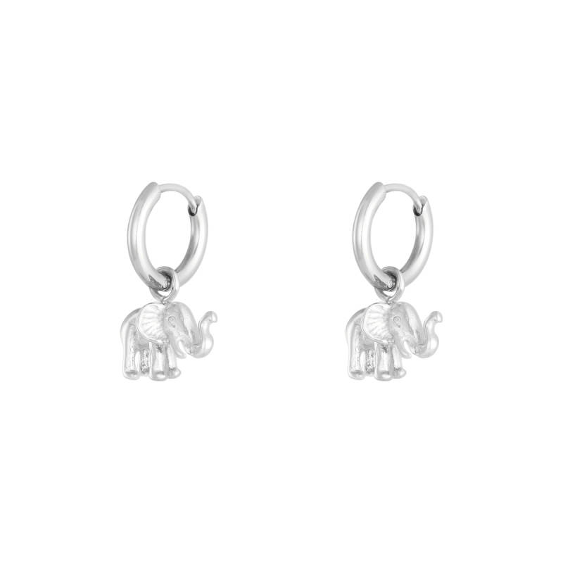 Elephant Earrings - Silver