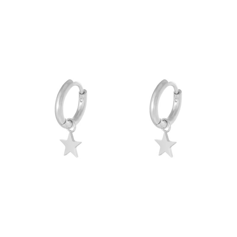 Star Earrings - Silver