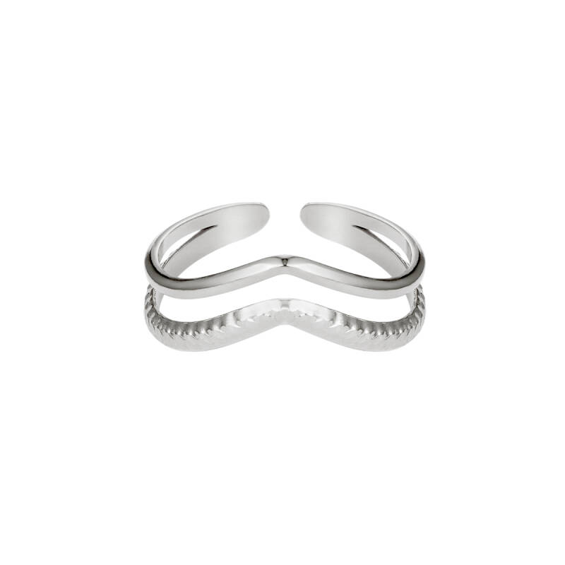 Double Wave Ring - Silver