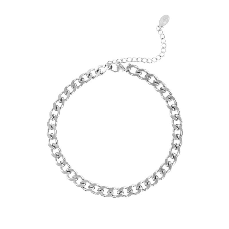 Bold Chain Anklet - Silver