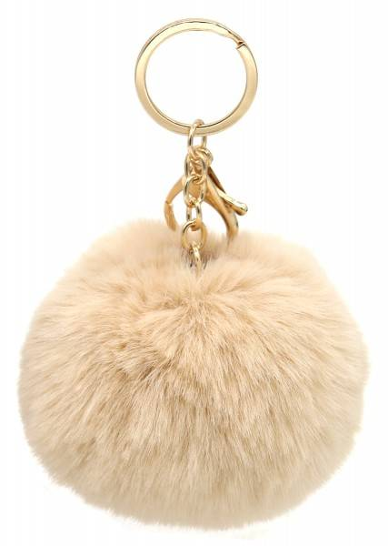 Fluffy Keychain White