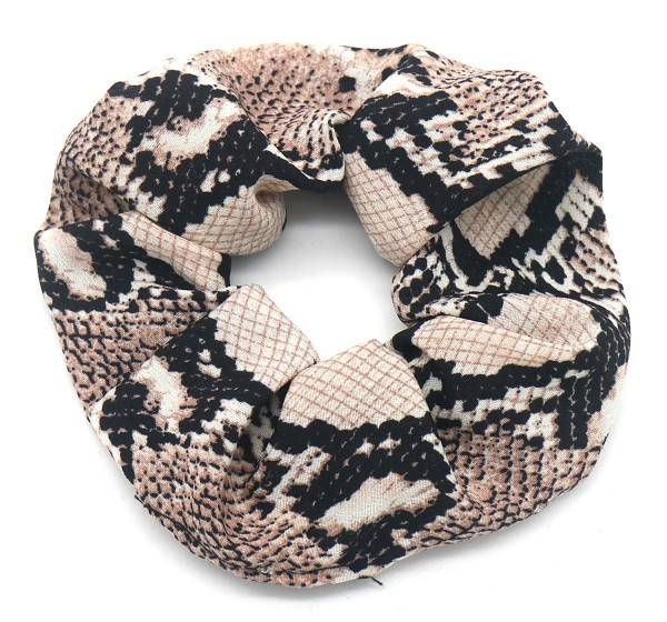 Scrunchie Snake Brown
