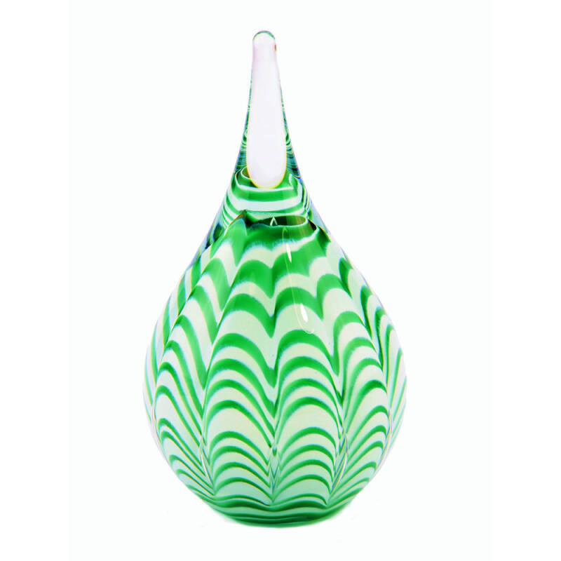 Mini urn van glas Ripple Green (40ml)