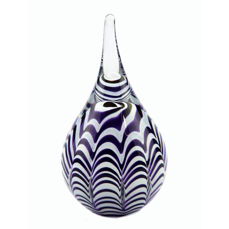 Mini urn van glas Ripple Purple (40ml)