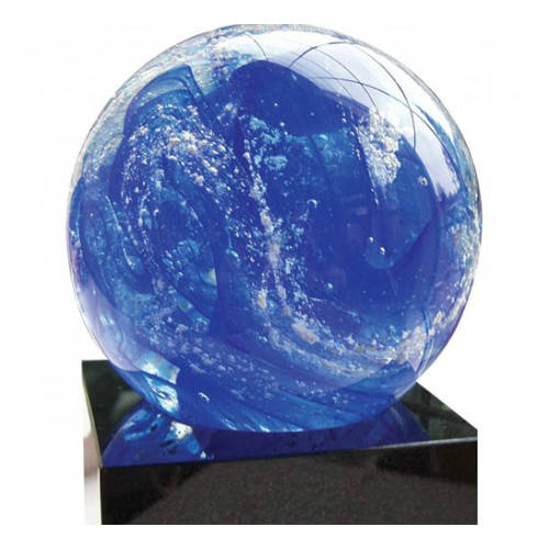 Gedenkobject en glasreliek: Stroming Blauw