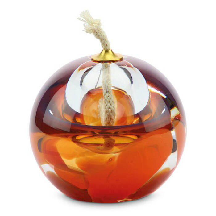 Olielamp met kleine askamer Orange/Rosé (80ml)