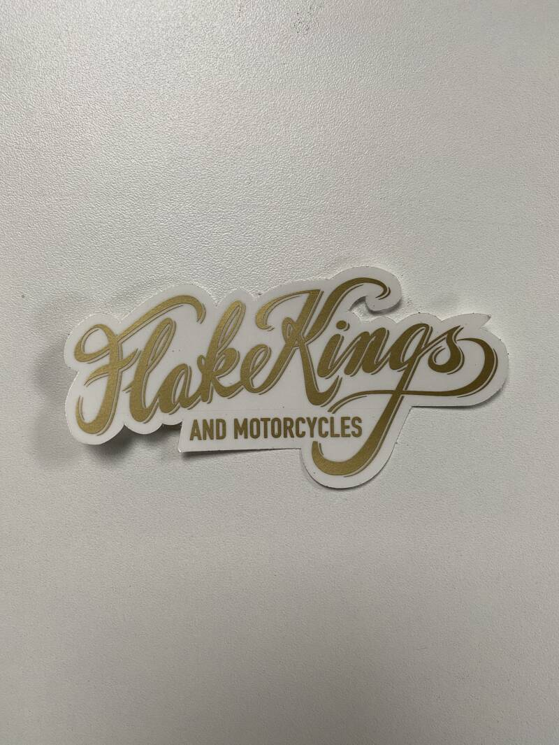 FlakeKings gold decal