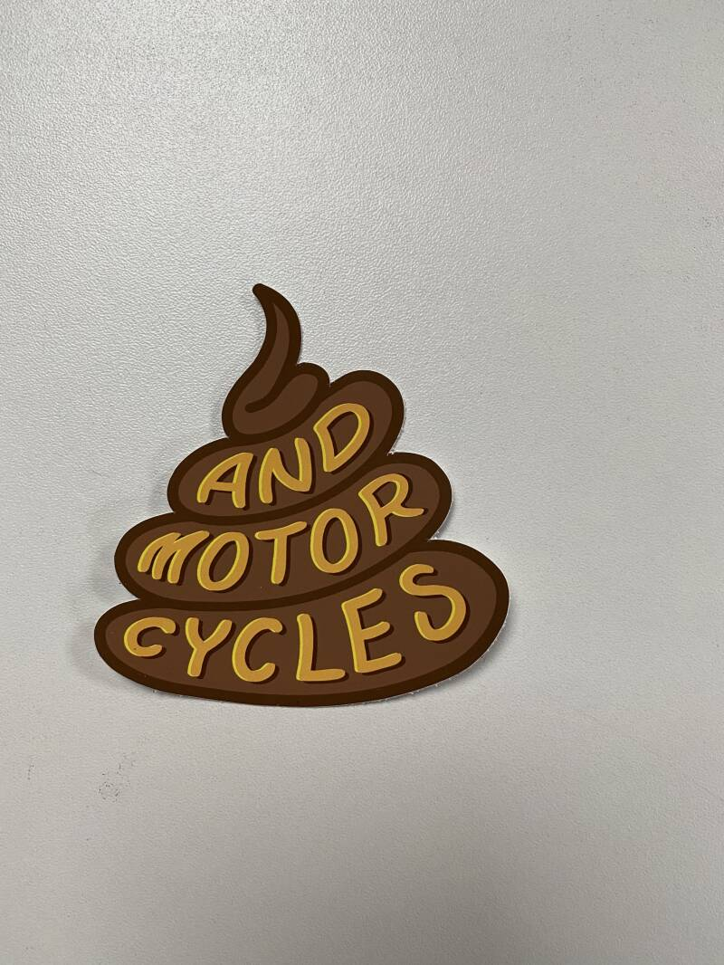 And motorcycles decal