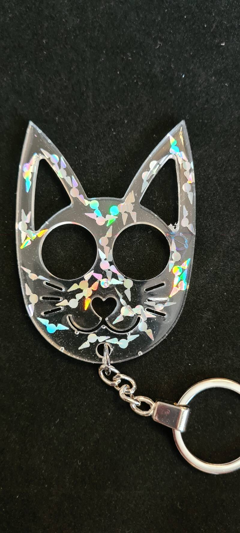 Kittycat Keychain Snitch & Deadly Hallows Holographic