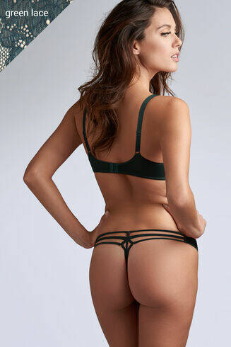 space odyssey pine green lace  string no 145