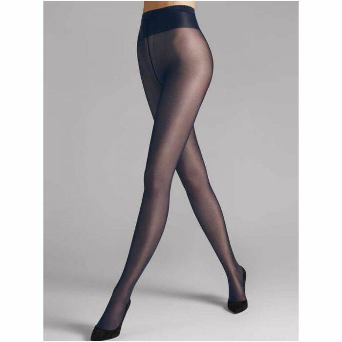 Wolford neon 40 glans panty concrete/ jeans blauw no 316