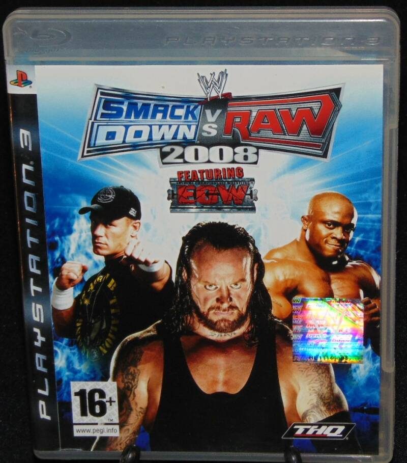 Smack Down vs Raw 2008 / PS3 / Complet / Fr.