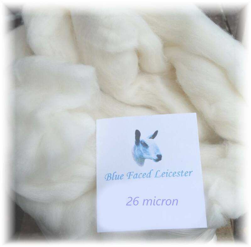 Blue Faced Leicester (BFL) lontwol