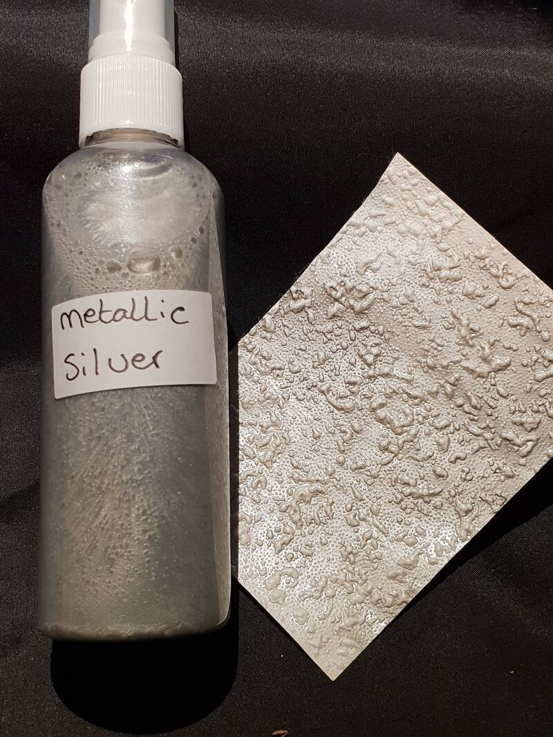 Spray metallic antique silver