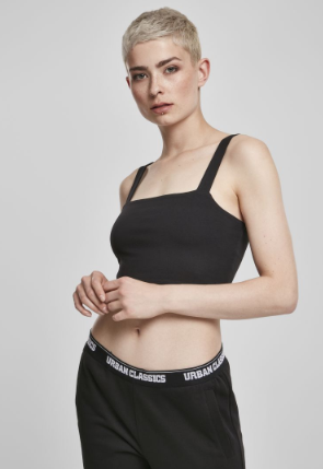 Ladies Cropped Top - Zwart