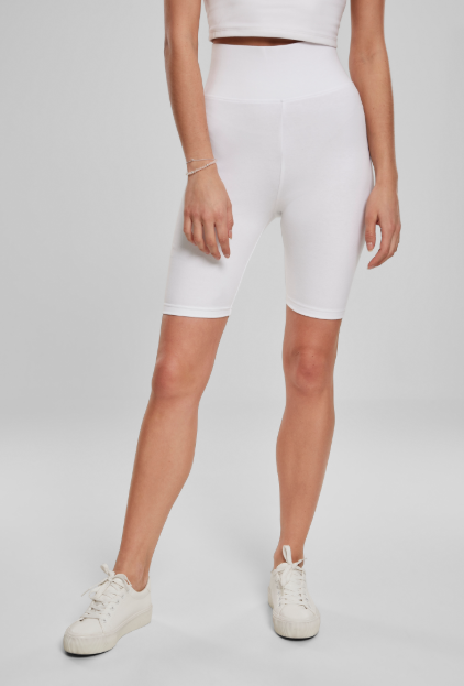 Ladies High Waist Cycle Shorts - Wit