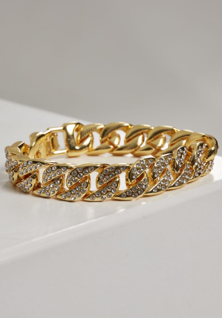 Big Bracelet With Stones - Goud