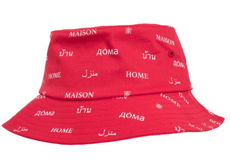 Maison Bucket Hat - Rood