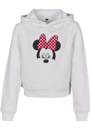 Kids Minnie Mouse Bow Cropped Hoody