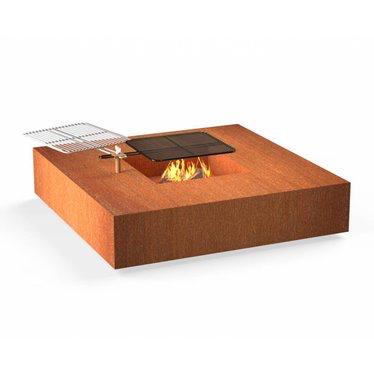Forno vuurtafel Square incl. BBQ rooster