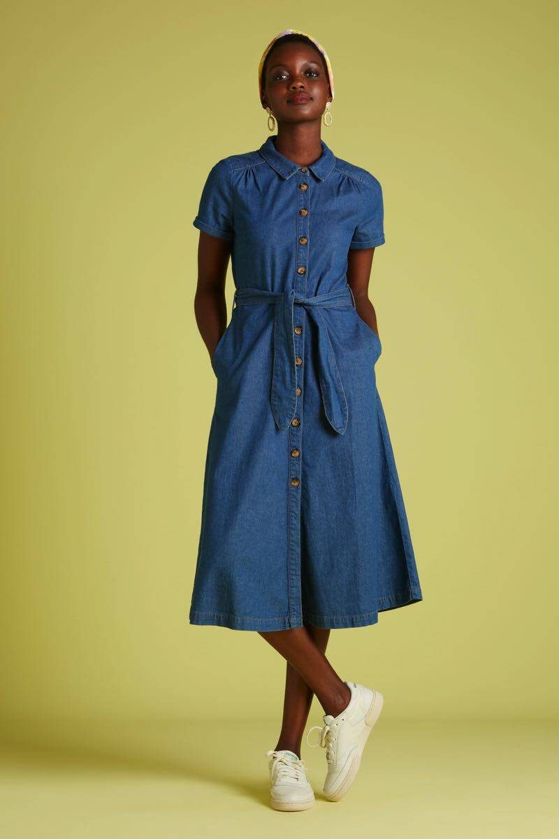 King Louie Olive Dress Chambray 03797 River Blue