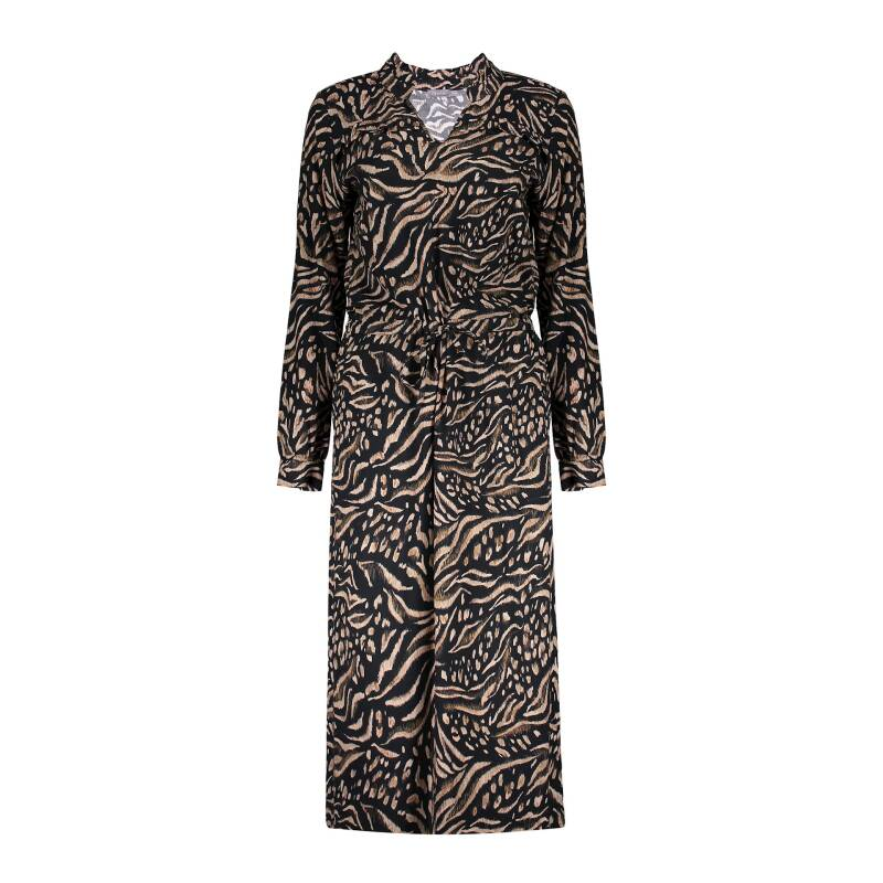 Geisha dress animal print ruffles