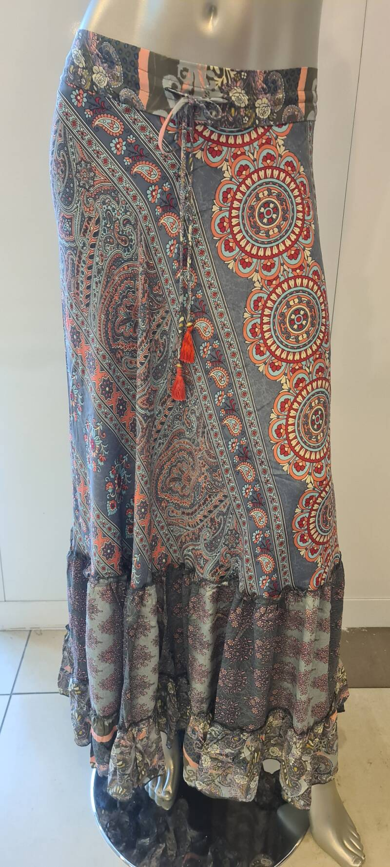 Maxi skirt Boho Paisley Three