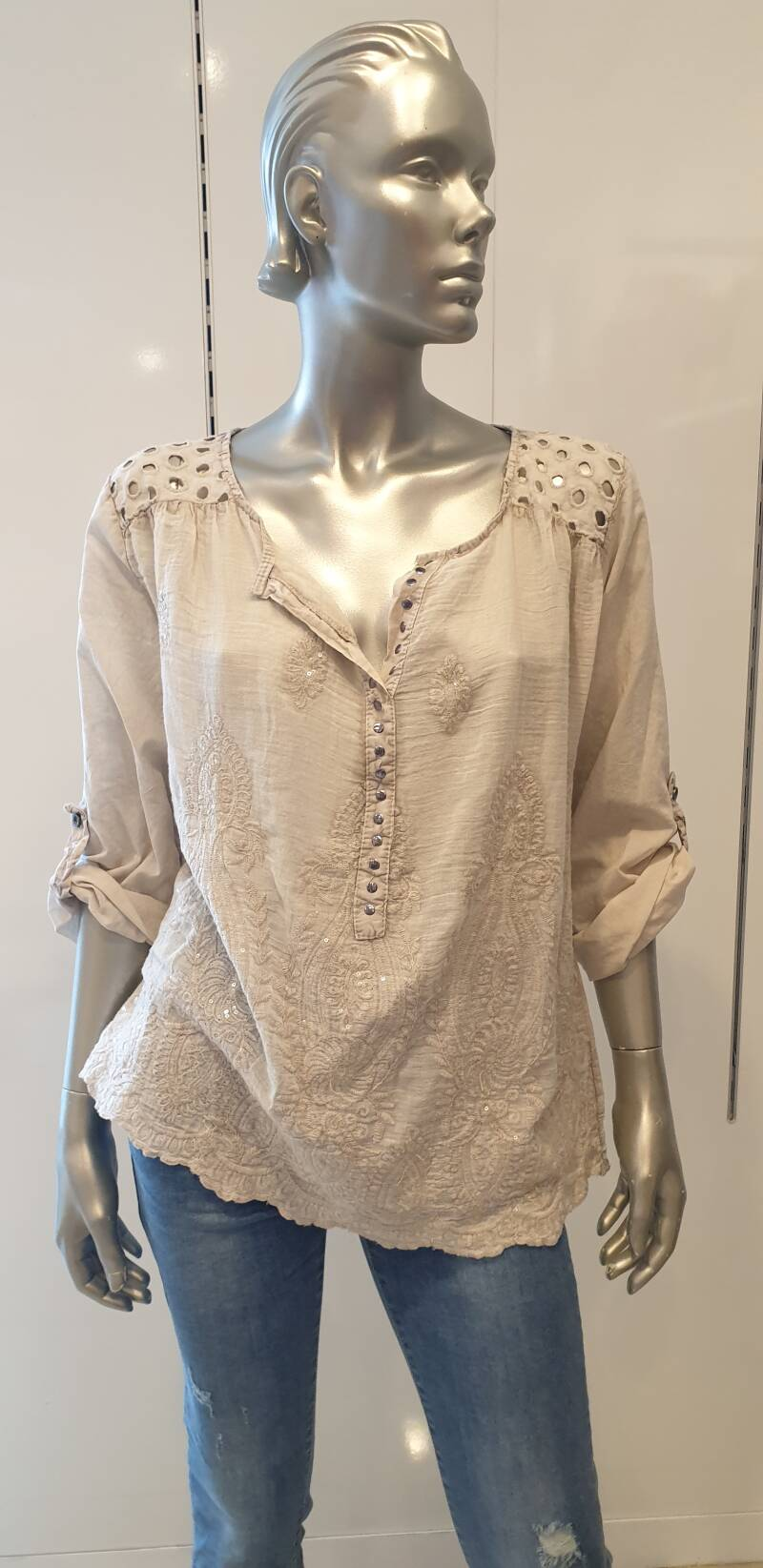 Blouse Broderie Zand
