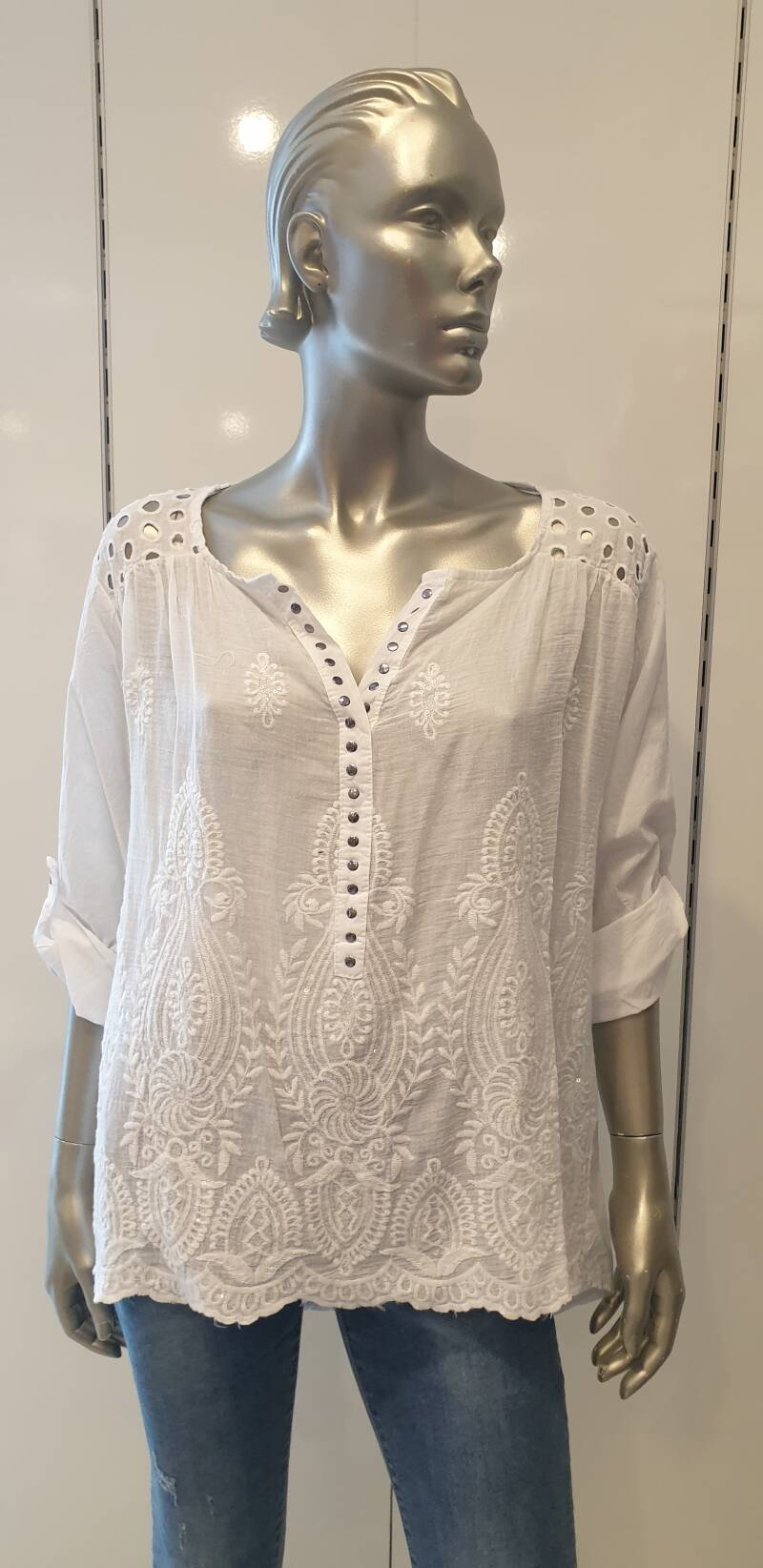 Blouse Broderie wit